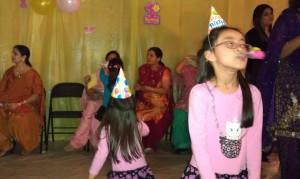 birthday party neighbor's kid house indian february 25th 2012