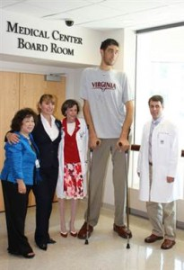 world tallest person man height at 8 feet 3 due to tumor kept on producing high amount of hormone