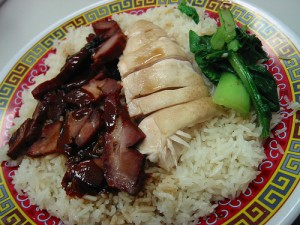 char siu over rice