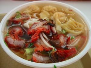 won ton soupo noodle char siu