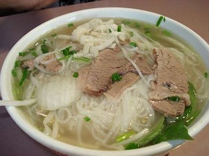Pho Tai Chin Nam Sach Fresh Rice Noodles with Eye Round Steak, Well Done Brisket, Flank & Tripe