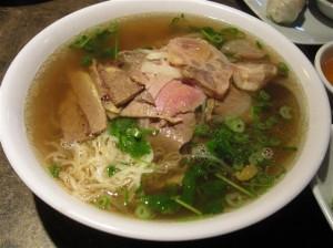 Pho Tai Chin Nam Gan Sach Fresh Rice Noodles with Eye Round Steak, Well Done Brisket, Flank, Soft Tendon & Tripe