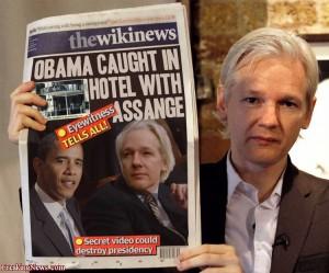 WikiLeaks Juian Assange was with president Obama?