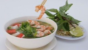 pho tom Fresh Rice Noodles with Shrimp