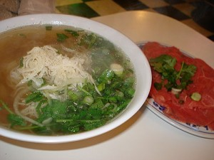pho tai sach Fresh Rice Noodles with Eye Round Steak & Tripe