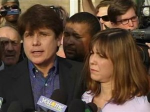 Former Illinois Gov. Rod Blagojevich in jail now serving 14 years for corruption case he will writing many books while in jail on how to corrupt the right way :)