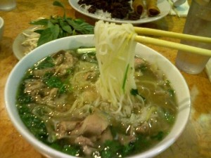 Pho Tai Chin Nam Gan Fresh Rice Noodles with Eye Round Steak, Well Done Brisket, Flank & Soft Tendon
