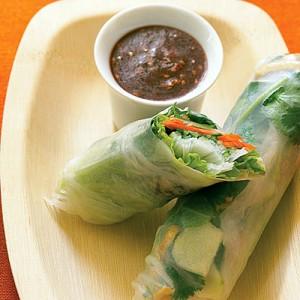 vietnamese vegetarian summer spring rolls
