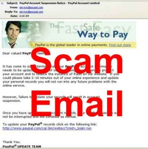 watch out for paypal scam fraud fake email replica looks real but fake don't click