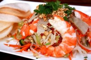 goi tom thit homemade clean shrimp