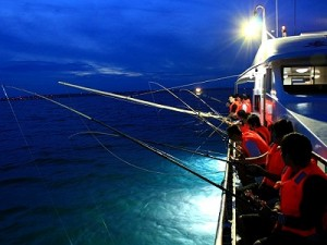 phu quoc island fishing tour at night aquid beautiful weather warm and clean water