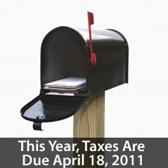 tax year 2011 file due date on april 18th 2011